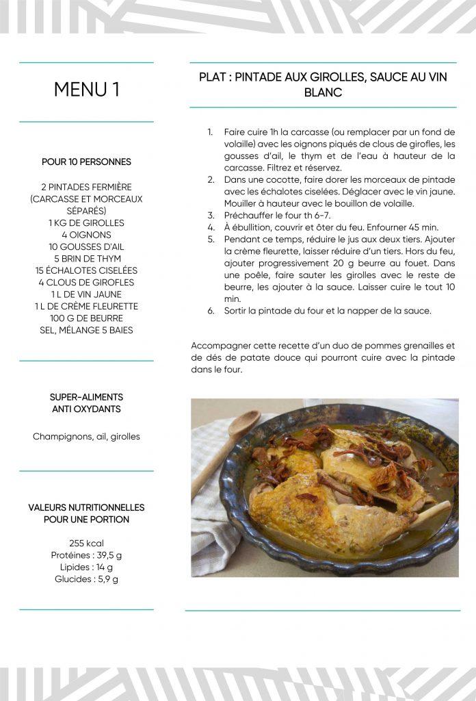 Recette dénutrition plat